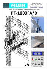 nova PT ALBA 1800FA/B viseća skela